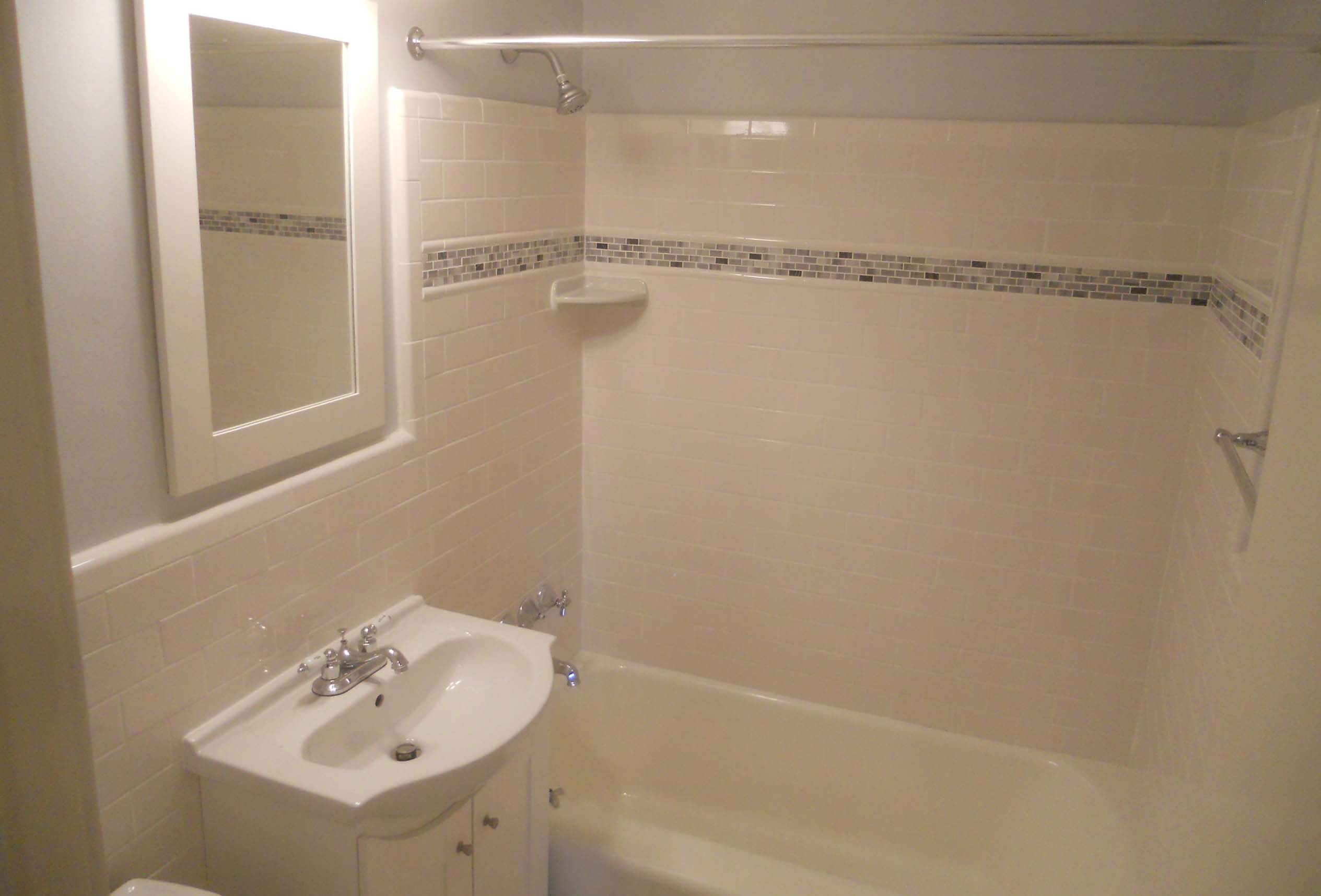 wall surround and tiled bathroom