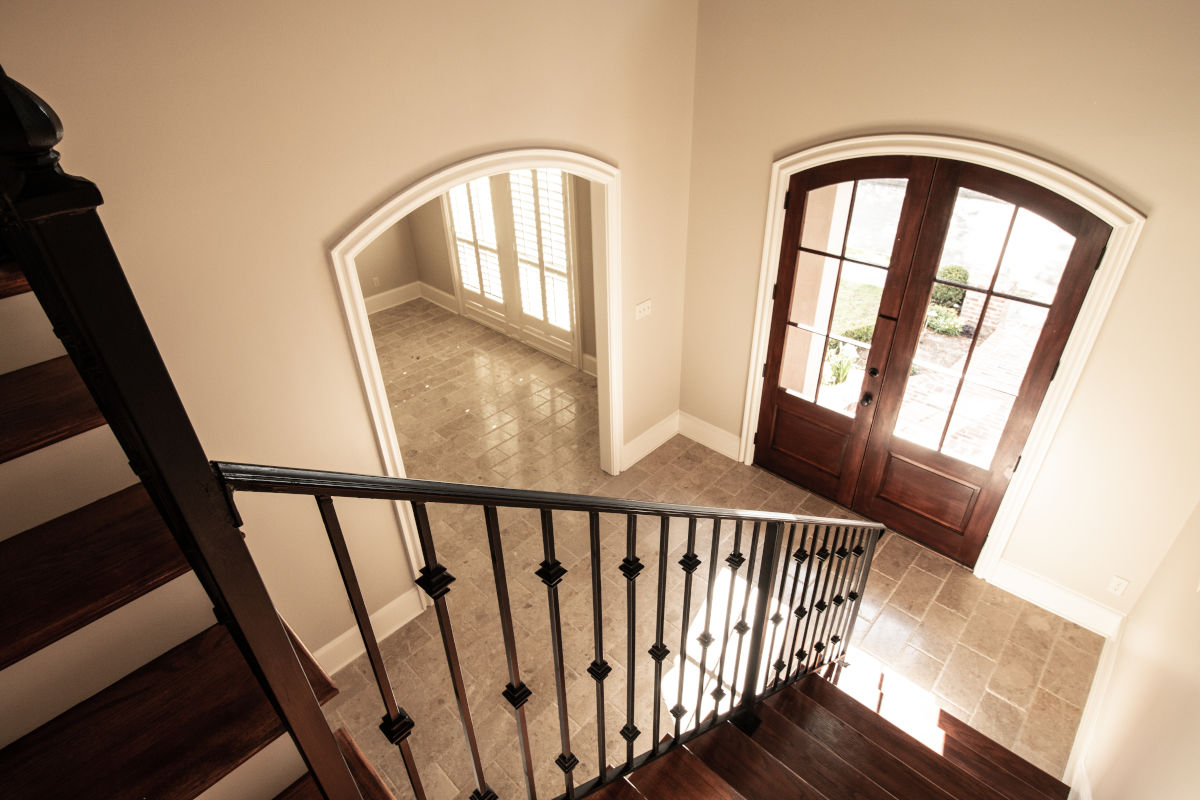 overlooking foyer from top of stairs
